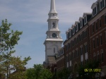 Old North Church steeple in downtown Portsmouth NH the closest city to where I am located.