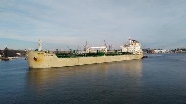 Oil tanker coming in